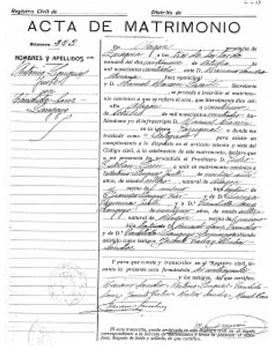 certificado de matrimonio badajoz