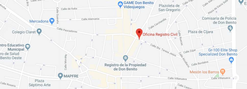 situacion registro civil don benito